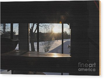 Wood Print featuring the photograph The Basement Window by John Black