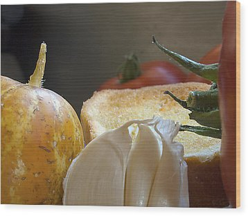 Wood Print featuring the photograph The Basics by Joe Schofield