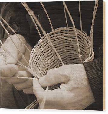 The Basket Weaver Wood Print