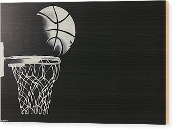 The Basketball Wood Print by Sanjay Thamake