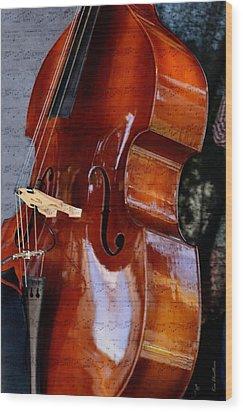The Bass Of Music Wood Print by Kae Cheatham