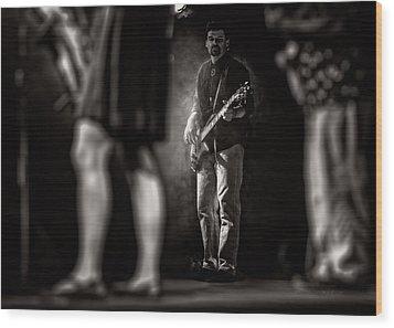 The Bassist Wood Print by Bob Orsillo