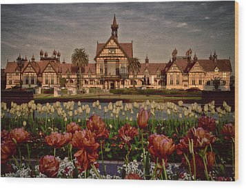 Wood Print featuring the photograph The Bath House by Kim Andelkovic