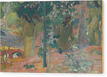 The Bathers Wood Print by Paul Gaugin