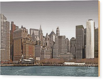 The Battery New York City Wood Print by Linda  Parker