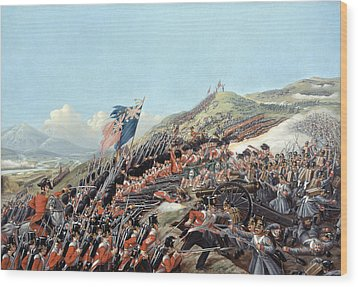 The Battle Of Alma On 20th September Wood Print by Edmund Walker