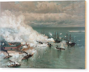 The Battle Of Mobile Bay Wood Print by War Is Hell Store