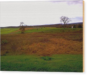 Wood Print featuring the photograph The Battlefield Of Gettysburg by Amazing Photographs AKA Christian Wilson