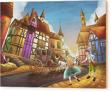 The Bavarian Village Wood Print