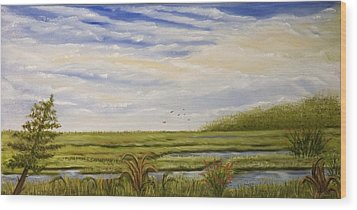The Bay Side Of The Shore Wood Print by Susan Culver
