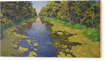 The Bayou Wood Print by Andrew Danielsen