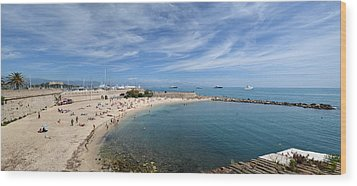 Wood Print featuring the photograph The Beach At Cap D' Antibes by Allen Sheffield