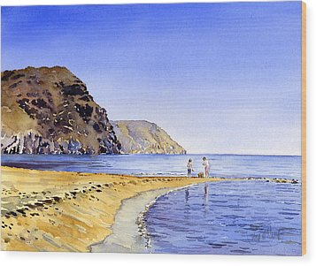 The Beach At Las Negras Wood Print by Margaret Merry