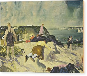 The Beach Newport Wood Print by George Wesley Bellows