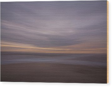 The Beach Wood Print by Peter Tellone