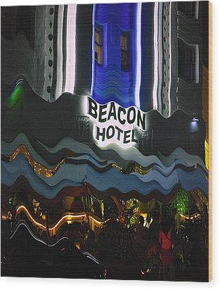 Wood Print featuring the photograph The Beacon Hotel by Gary Dean Mercer Clark