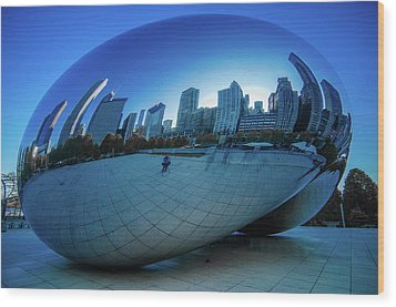 The Bean Wood Print by Jonah  Anderson