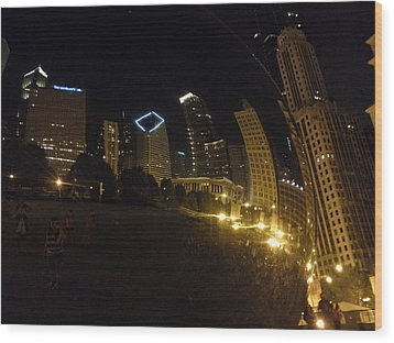 Wood Print featuring the photograph The Bean by Tiffany Erdman