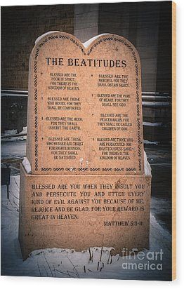 The Beatitudes Wood Print
