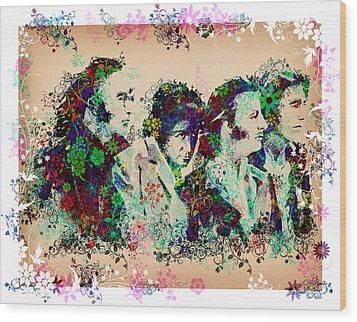 The Beatles 10 Wood Print by Bekim Art