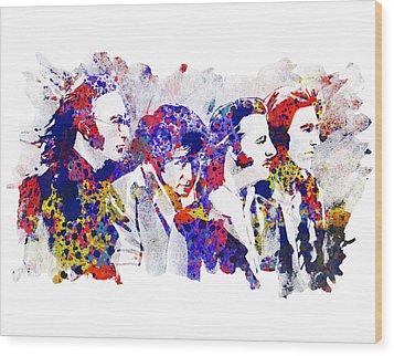 The Beatles 4 Wood Print