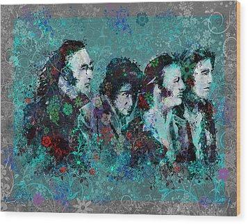 The Beatles 9 Wood Print by Bekim Art