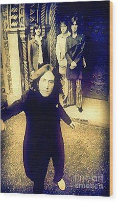 The Beatles - Camera Adjustment Wood Print by Paulette B Wright