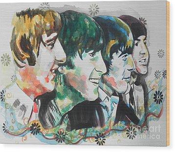 The Beatles 01 Wood Print