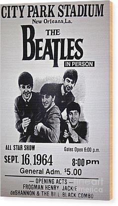The Beatles Circa 1964 Wood Print by Saundra Myles
