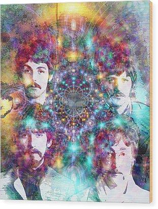 The Beatles Wood Print by D Walton