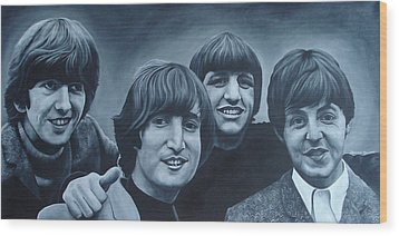 The Beatles Wood Print by David Dunne