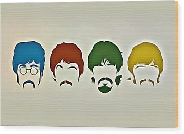 The Beatles Wood Print by Florian Rodarte