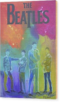 The Beatles Wood Print by Gino Savarino