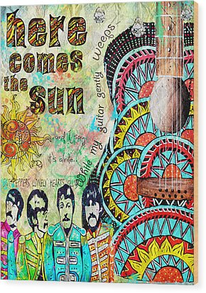 The Beatles Here Comes The Sun Wood Print by Tara Richelle