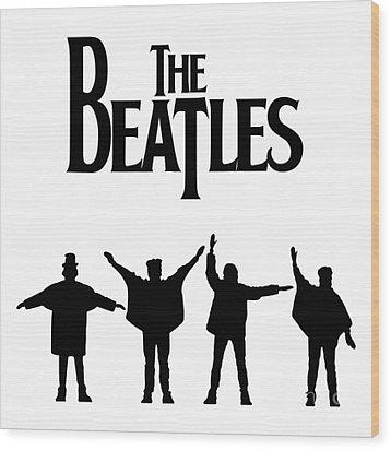 The Beatles No.06 Wood Print by Caio Caldas
