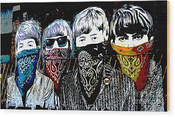 The Beatles Wood Print by RicardMN Photography