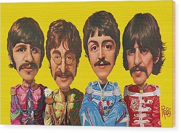 The Beatles Wood Print by Scott Ross