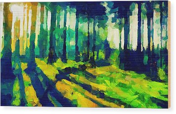 The Beautiful Trees Tnm Wood Print by Vincent DiNovici