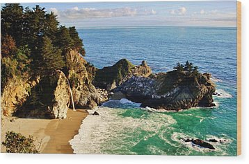 The Beauty Of Big Sur Wood Print by Benjamin Yeager