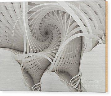 The Beauty Of Math-fractal Art Wood Print