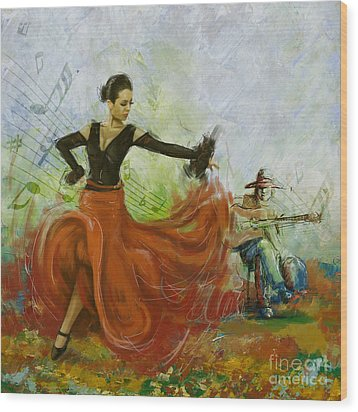 The Beauty Of Music And Dance Wood Print by Corporate Art Task Force