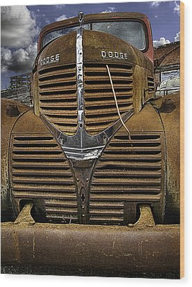 The Beauty Of Rust Wood Print by Gary Neiss