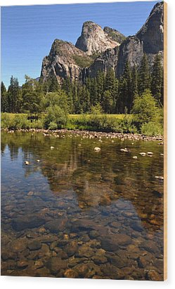 The Beauty Of Yosemite Wood Print by George Bostian