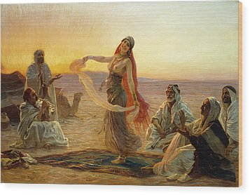 The Bedouin Dancer Wood Print by Otto Pilny