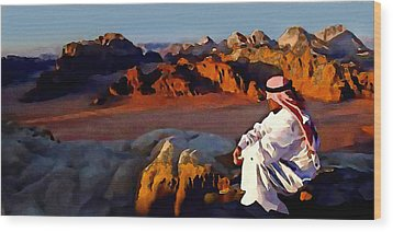 The Bedouin Wood Print by Jann Paxton