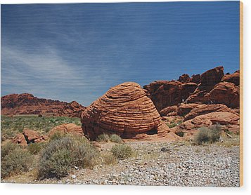 515p The Beehive In Valley Of Fire Wood Print by NightVisions