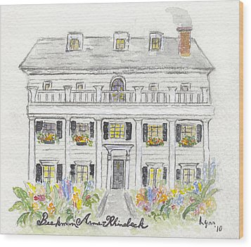 The Beekman Arms In Rhinebeck Wood Print by AFineLyne