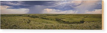 The Beginnings - Flint Hills Storm Pano Wood Print