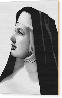 The Bell's Of St. Mary's Sister Mary Benedict Wood Print by Fred Larucci