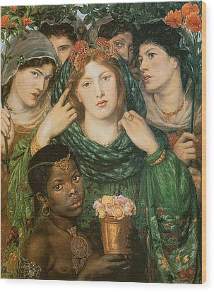 The Beloved-the Bride Wood Print by Dante Gabriel Rossetti
